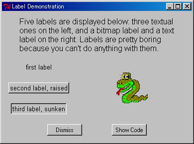 A demo of Tkinter